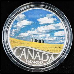 .9999 Fine Silver $10.00 Coin 'Canola Field' (ER)