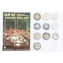 Collection of (10) Canada Silver Dollars; Includes