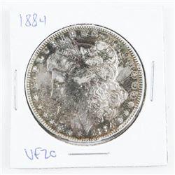 1884 US Morgan Dollar VF20 Toned