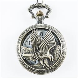 Pocket Watch with Fob Eagle Case