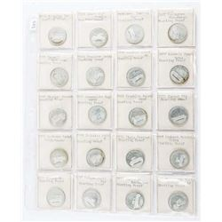 Group of (20) Sterling Silver Proof Historic Cars