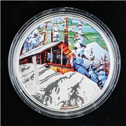 .9999 Fine Silver $20.00 Coin 'Ski Chalet' (SXR)