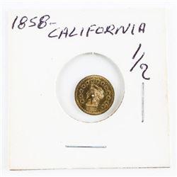 Estate Mini Gold Coin California Dated 1858