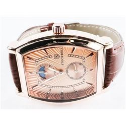 Gents Designer Watch 'Stockwell' with Moon Dial an