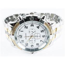Gents Quartz Watch 2 Tone Large Dial