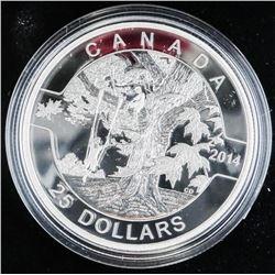 .9999 Fine Silver $25.00 Coin 'Under the Maple Tre