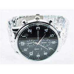Gents Quartz Watch Large dial, Panther Style Band