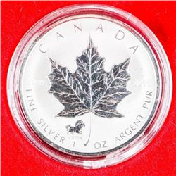 2002 .9999 Fine Silver $5.00 Coin Maple Leaf with