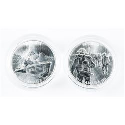 Lot (2) 925 Sterling Silver 50 Cent Proofs