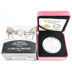 .9999 Fine Silver $20.00 Coin White Tailed Deer