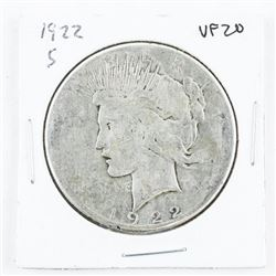 1923(S) USA Silver Peace Dollar EF40