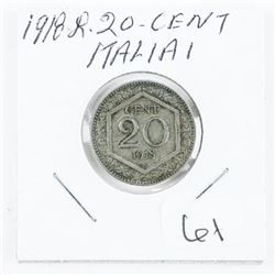 1918-R 20 Cent Italia Coin (OR)