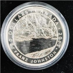 2013 .9999 Fine Silver $20.00 Coin 'Fraz Johnson'