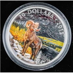 RCM .9999 Fine Silver $20.00 Coin 'Big Horn Sheep'