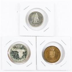 Group 1867-1967 Silver Dollar, 50 Cent, RCM Medal