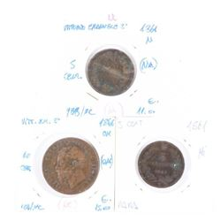 Group (3) ITALY - 1861 and 1866 Coins, 2 x 5cents