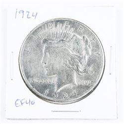 1924 US Peace Dollar EF40
