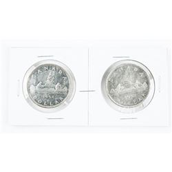 Lot (2) 1952 CAD Silver Dollars: WL and NWL