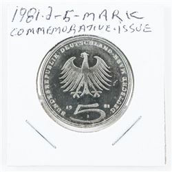 1981 - 2 and 5 Mark Coin Commemorative Issue (KR)