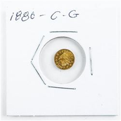 Estate Mini Gold Coin 1880 - California Gold
