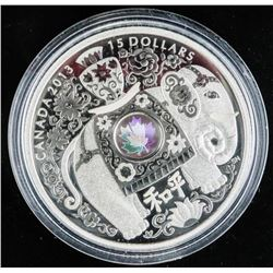 .9999 Fine Silver $15.00 Coin 'Maple of Peace' (AG