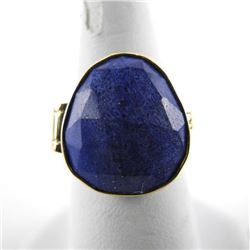Estate 9kt Gold (British) Ring 'Lapis Lazuli' 2 To