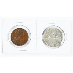 1953 Coronation Silver Dollar and Medal Set
