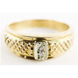 Estate 10kt Gold 2 Diamond Ring Size 10. 4.97gr