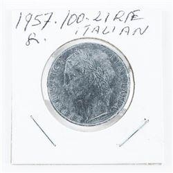 1957 - 100 Lire Coin Italy (SER)