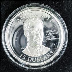 2011 925 Sterling Silver $15.00 Coin 'Prince Willi