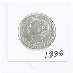 1888 NFLD 925 Sterling Silver 50 cent