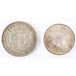 Lot (2) Estate Medals: 1937 Crown and 1969 Medal