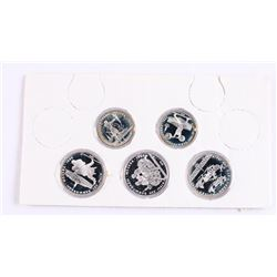 Group of (5) .900 Silver Russia Olympic Coins Proo