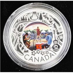 RCM 2019 9.9 Fine Silver $3.00 Coin 'Folk Music' L