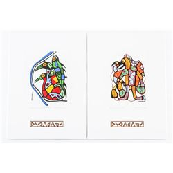 Pair - Norval Morrisseau (1931-2007) Cameo Collect