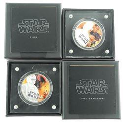 Lot (2) Disney Star Wars Coins