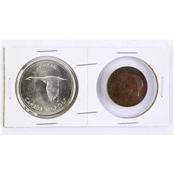 1867-1967 Silver Dollar with RCM 1867-1922 Medal C