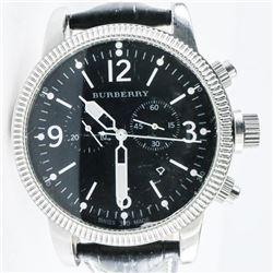 BURBERRY Genuine Sport Watch, Leather Band SWISS M