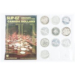 Group of (10) CAD Silver Dollars