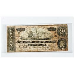 Confederate States of America 20.00 1864 (MIE)