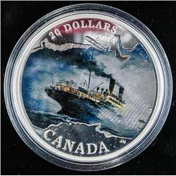 .9999 Fine Silver $20.00 Coin 'R.M.S. Empress of I