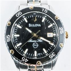 BULOVA Gents Sport Watch with Date Stainless Steel