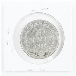 1918 NFLD 925 Sterling Silver 50 cent