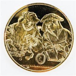 24kt Gold/925 Sterling Silver Artistic Medal