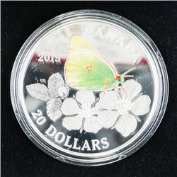 .9999 Fine Silver $20.00 Coin Butterflies of Canad