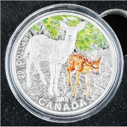 The Deer Fawn Stamp and .9999 Fine Silver $20.00 C