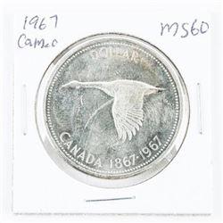 1867-1967 Canada Silver Dollar MS60 Cameo