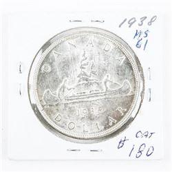 1938 Canada Silver Dollar MS61 (SGR)