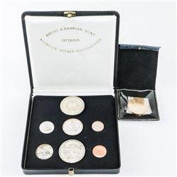 1867-1967 Specimen Coin Set, Plus 925 Sterling Sil