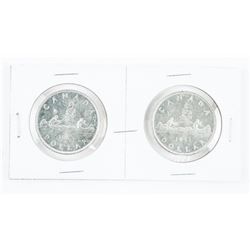 Lot (2) CAD Silver Dollars 1951 - SWL and RWL
